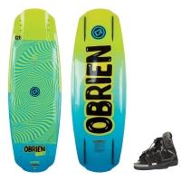 Komplet juniorski wakeboard Obrien Hooky + wiązania (wakepark+motorówka)